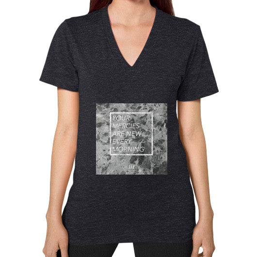 V-Neck (on woman) Tri-Blend Black Audrey Assad Store