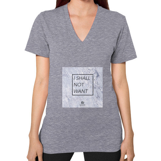 V-Neck (on woman) Tri-Blend Grey Audrey Assad Store