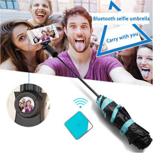 Load image into Gallery viewer, Wireless Bluetooth Selfie Tri-Folding Umbrella - Ultra-light Anti-UV Vinyl Folding Small Black Umbrella - Ultra-light Sunscreen