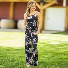 Load image into Gallery viewer, women Super Comfy Floral Jumpsuit Fashion Trend Sling Print Loose Piece Trousers