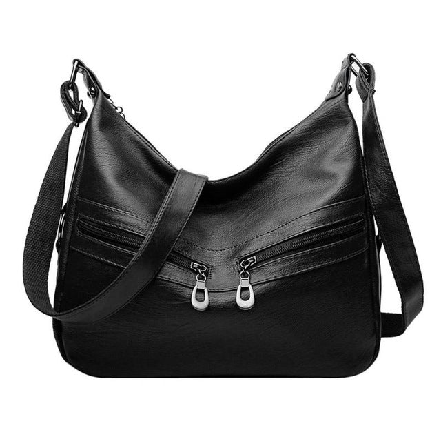 Women Hobos Handbag Brand Fashion Zipper PU Leather Shoulder Bag Elegant Ladies Messenger Bag Female Totes Shopping Bags