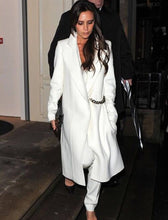 Load image into Gallery viewer, Victoria Beckham Winter Wool Coat Fashion Turn-Down Collar Long Sleeve Coat With Chains