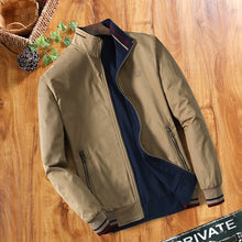 Load image into Gallery viewer, Double-sided Middle-aged Men's Jacket Thin Jacket Dad's Collar
