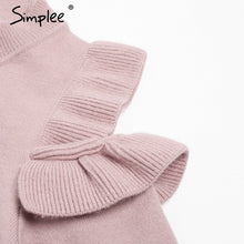 Load image into Gallery viewer, Elegant cold shoulder knitted sweater women jumper Casual long sleeve sweater female Autumn winter ladies pullover