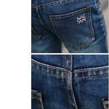 Load image into Gallery viewer, Men's Harem Jeans Fashion Men Washed Feet Shinny Denim Pants Hip Hop Sportswear Elastic Waist Pants