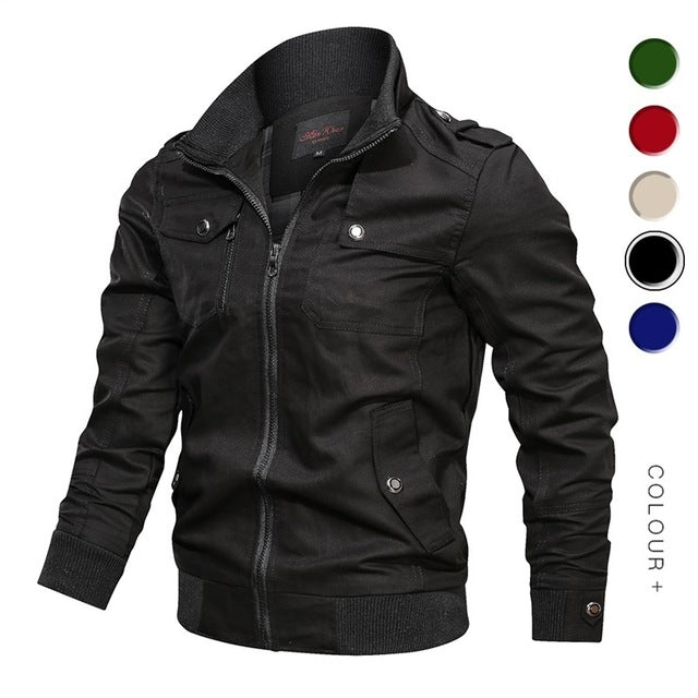 Military Jacket Men Spring Autumn Cotton Windbreaker Pilot Coat Army Men's Bomber Jackets Cargo Flight Jacket Male Clothes