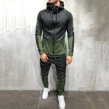 Load image into Gallery viewer, Zipper Tracksuit Men Set Sporting 2 Pieces Sweatsuit Men Clothes Printed Hooded Hoodies Jacket Pants Track Suits