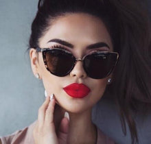 Load image into Gallery viewer, Vintage Sexy Ladies Cat Eye Sunglasses Women Brand Designer New Fashion Cute Eyewear Small Sun Glasses