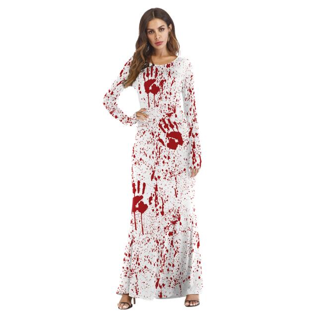 Halloween Costumes COS Dress Up Ball Ghost Festival Long Sleeve Dress
