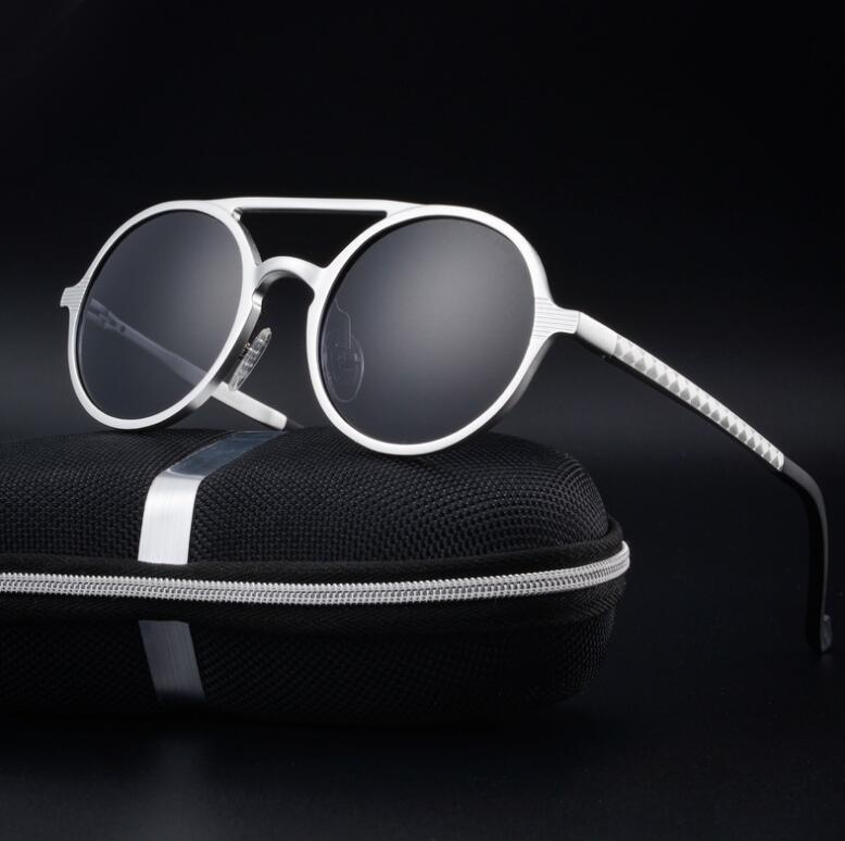 Retro Aluminum Magnesium Sunglasses Polarized Vintage Eyewear Accessories Women Sun Glasses Driving Men Round Sunglasses