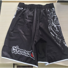 Load image into Gallery viewer, MMA  White dragon Eagle subtitles sports breathable cotton loose boxing training pants mma short kickboxing shorts short muay thai