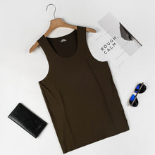 Load image into Gallery viewer, Pure Color Round Neck Seamless Vest Ice Silk Vest Quick Dry Large Size Clothing Top