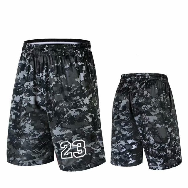 Sport Athletic USA NO.23 Basketball Shorts Training Men Active Shorts Loose Pockets