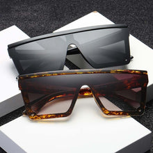 Load image into Gallery viewer, Male Flat Top Sunglasses Men Brand Black Square Shades UV400 Gradient Sun Glasses For Men Cool One Piece Designer