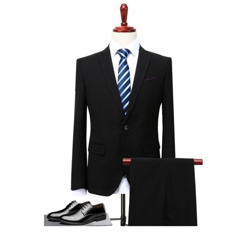 Suits Wedding Groom Plus Size 4XL 3 Pieces(Jacket+Vest+Pant) Slim Fit Casual Tuxedo Suit Male