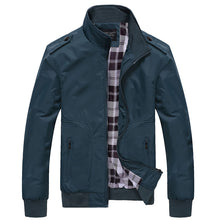 Load image into Gallery viewer, Mens Jackets Spring Autumn Casual Coats Stand Collar Slim Jackets Male Bomber Jackets 4XL