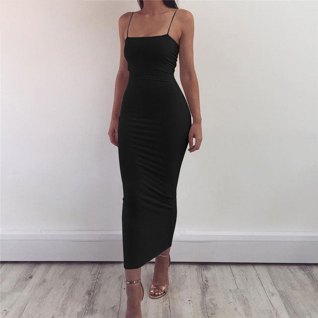 Sexy Long Dress Party Off Shoulder Strapless Summer Maxi Dress Black Bodycon Party Dress Women