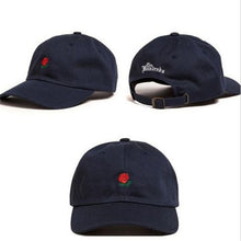 Load image into Gallery viewer, The Hundreds Rose Embroidered Hat Baseball Cap Unique Adjustable Embroidered Rose Casual Hats