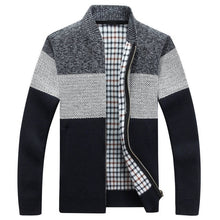 Load image into Gallery viewer, Winter Men's Jackets Thick Cardigan Coats Mens Brand Clothing Autumn Gradient knitted Zipper Coat