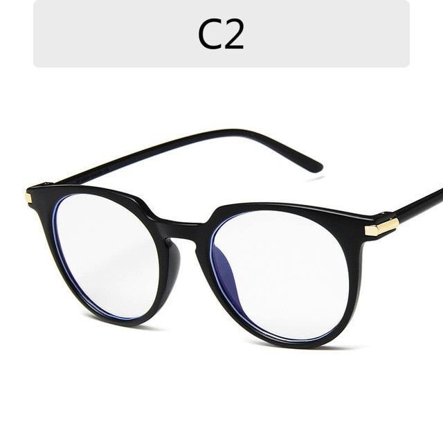 Round Eyeglasses For Women Fake Glasses Cute Fashion Clear Glasses Frame Pink Transparent Eye Glasses Frames For Women