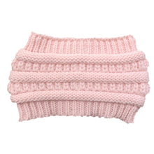Load image into Gallery viewer, Ponytail Beanie Women Stretch Knitted Crochet Beanies Winter Hats For Women Hats Cap Warm Lady Messy Bun Wholesale