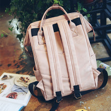 Load image into Gallery viewer, Mummy Diaper Backpacks Fashion Nappy Bag Large Capacity Baby Nursing Handbag High Quality PU Leather Travel Backpack MBG0150