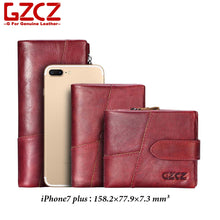 Load image into Gallery viewer, GZCZ Genuine Leather Women Wallet Purse Female Luxury Cow Leather Business Women's Handbag Genuine Leather Pouch
