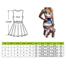 Load image into Gallery viewer, Sexy Deep V Neck Dress Women Summer Sleeveless Printing Back Lacing Straps Dress
