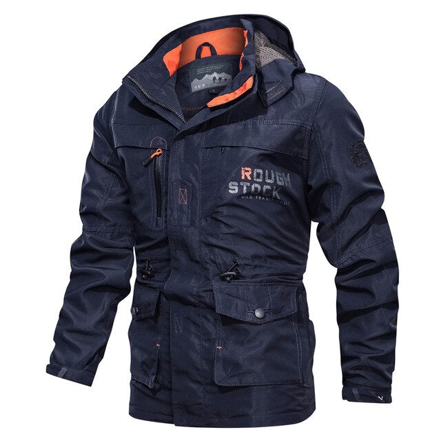 Autumn windbreaker Jacket Men Multi Pocket Military Army outdoor ski Tourism Mountain Hiking Men`s jackets and coats size M~6XL