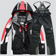 Load image into Gallery viewer, Men Warm Snowboarding Suit Winter Ski Suit Waterproof Breathable Snow Jacket +Pant Ski Set