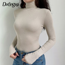 Load image into Gallery viewer, Darlingaga Casual Solid Skinny Turtleneck Long Sleeve Warm Basic Woman Body Fall Winter High Neck Bodysuit