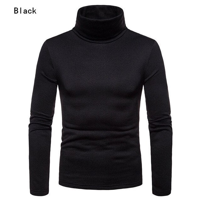 Men's Warm Turtleneck Sweater Winter Ski Riding Underlayer Tight Warm Long Sleeve Sweater skiing jacket