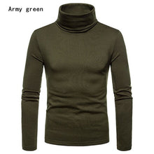 Load image into Gallery viewer, Men's Warm Turtleneck Sweater Winter Ski Riding Underlayer Tight Warm Long Sleeve Sweater skiing jacket