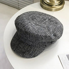 Load image into Gallery viewer, Autumn Winter Plaid Beret Hats For Women French Berets Fashion Female Houndstooth Berets Black Berets Plaid Newsboy Cap