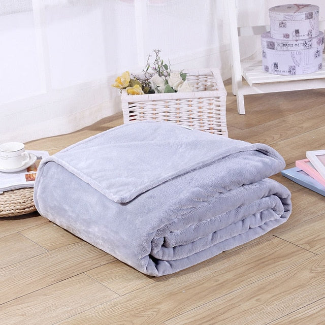 70x100cm Blanket & Swaddling blankets coral fleece single thick warm student office winter cover leg nap blanket