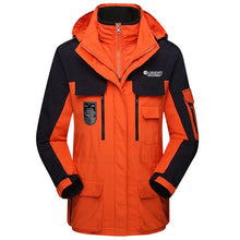 Load image into Gallery viewer, Waterproof 3-in-1 Ski Jacket Couple's two-piece multi-Pockets winter coat windbreaker thick warm snow parkas overcoats