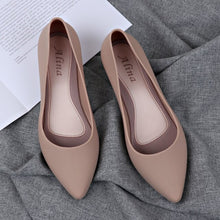 Load image into Gallery viewer, Pointed Shallow Wedges pumps women shoes women Elegant Casual Work Low heel Slip Casual ladies shoes