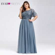 Load image into Gallery viewer, Plus Size Sequined Evening Long Ever Pretty A-Line Elegant Formal Evening Gown