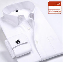 Load image into Gallery viewer, DAVYDAISY French Cuff Men's Shirt Long Sleeve Dress Shirt