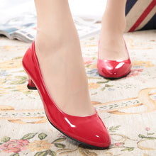 Load image into Gallery viewer, Super High Women Shoes Pointed Toe Pumps   Dress High Heels Boat Wedding Shoes Zapatos Mujer Matte Low-heeled