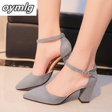 Load image into Gallery viewer, Autumn Flock pointed sandals high heels  summer shoes