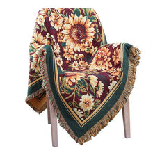 Load image into Gallery viewer, Fashion Flower Design Soft Comfortable Thick Cotton Blanket Travel Plane Tassel Decor Tapestry Multipurpose Sofa Chair Cover