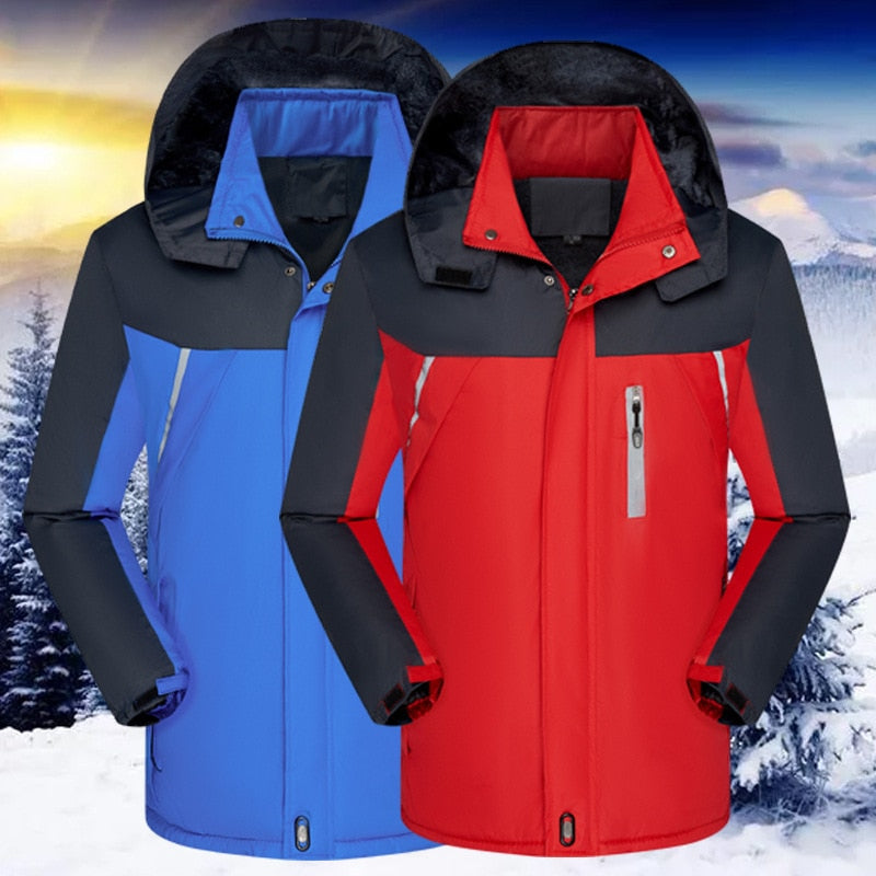 Thick Winter Ski-Wear Coat, reflective cotton-padded rain wear Jacket