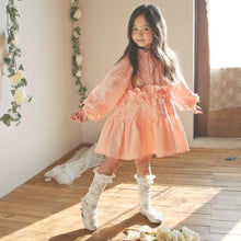 Load image into Gallery viewer, Strawberry Sandy Girls French Princess Lace Dress