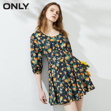 Load image into Gallery viewer, ONLY Summer French Retro U-shaped Fashion A-line dress