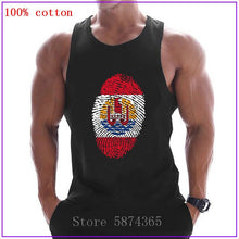 Load image into Gallery viewer, French Polynesia Flag Fingerprint clothing Singlets Mens Tank Top Muscle Shirt Stringer Bodybuilding Fitness Vest