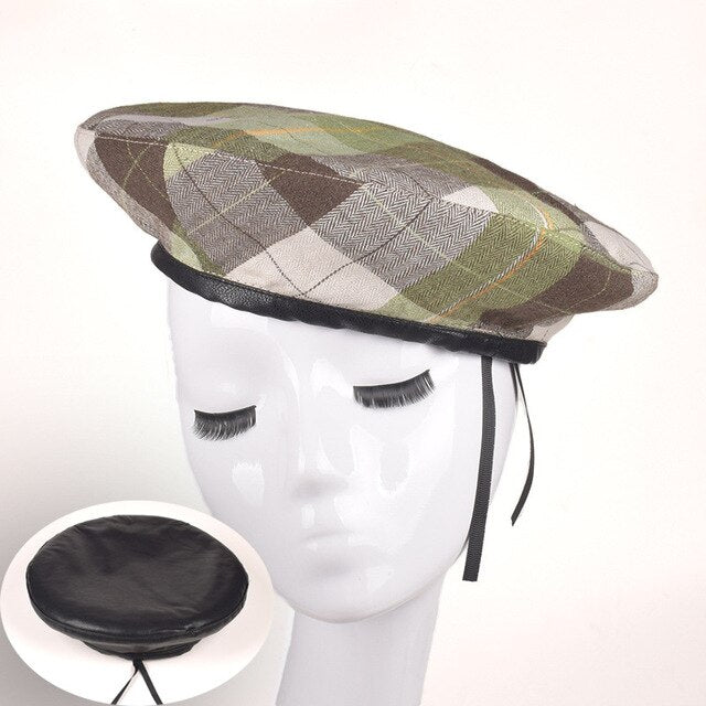 Berets Hats For Women Plaid Cotton Vintage Beret Caps French Artist Berets Hat Baret
