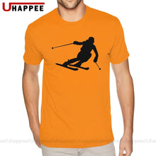 Load image into Gallery viewer, Workout Love Skiing Ski Player Short Sleeves 100 Cotton O-neck T-Shirt