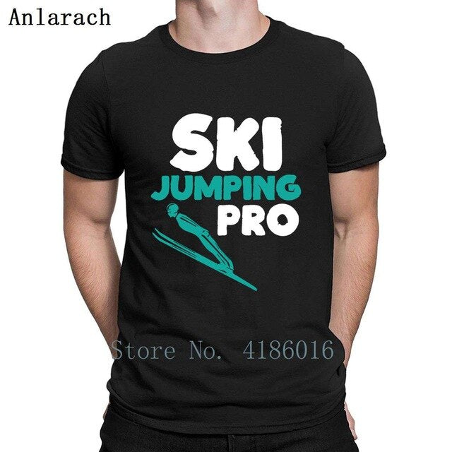Ski Jumping Pro Sportsmen T Shirt Natural Designs New Style Tee Shirt Spring Size S-5xl Sunlight Male Shirt
