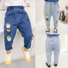 Load image into Gallery viewer, Jeans Pants Cartoon For Kids Children Trousers 2-6Yrs Boys Girls Jeans Casual Pants